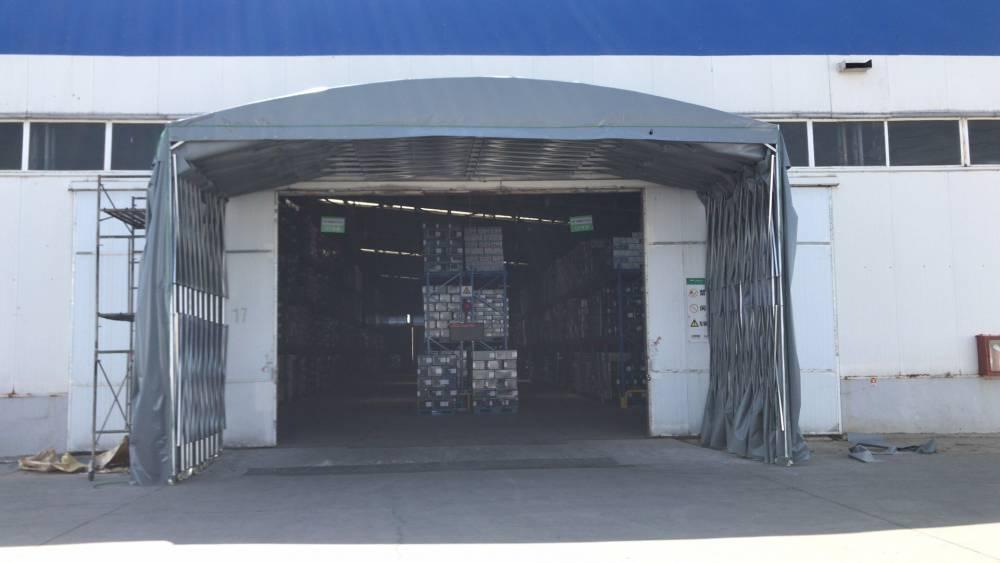 大型仓储推拉雨棚电动推拉雨棚伸缩帐篷定做