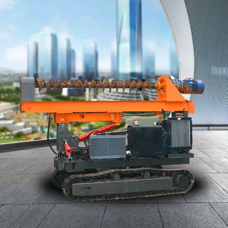 批发光伏太阳能打桩机 履带式高速打桩机 螺旋轮式液压打桩机售价