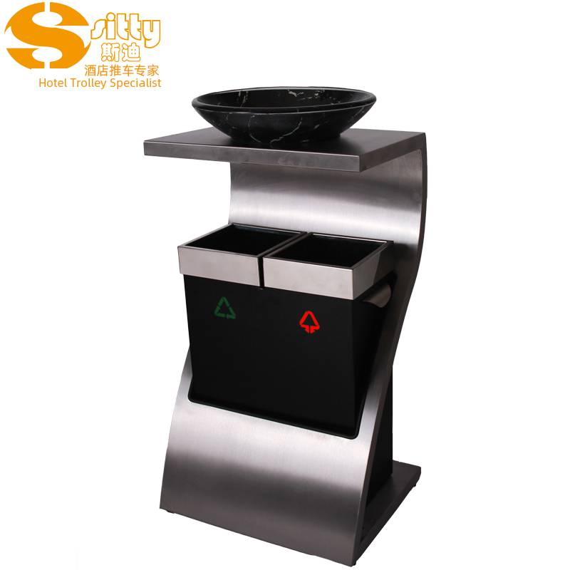 专业生产SITTY斯迪92.1072D分类Z形大堂垃圾桶/酒店烟灰桶分类/不锈钢烟灰桶