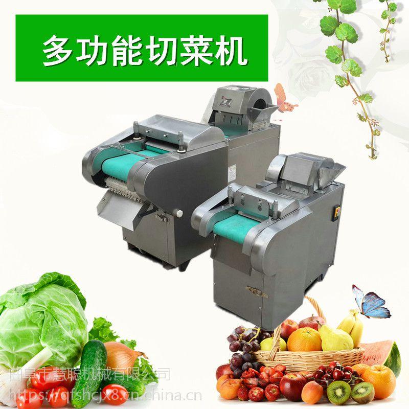 2018新款多功能切菜机 叶菜根茎类切片丝丁机 中央厨房用自动切菜机价格