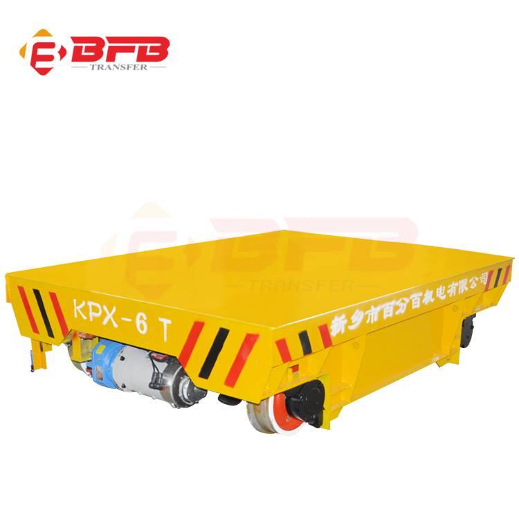 免维护蓄电池供电型轨道平车  环保车间搬运设备轨道平车