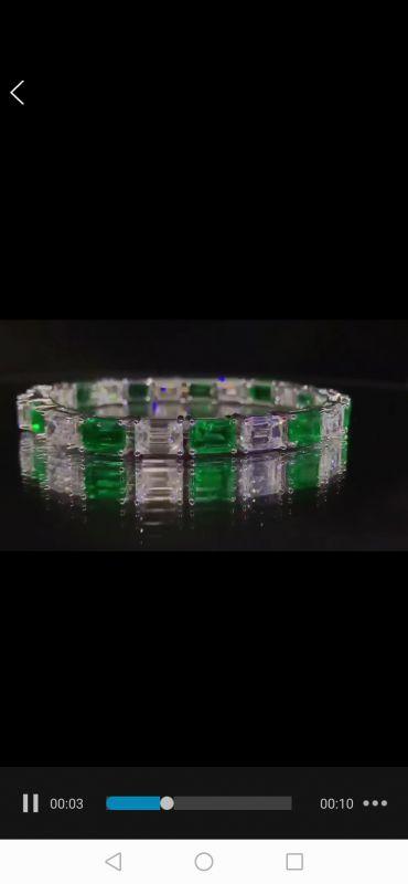 高级定制首饰祖母绿珠宝设计款加工批发定制耳环接单免费设计定制