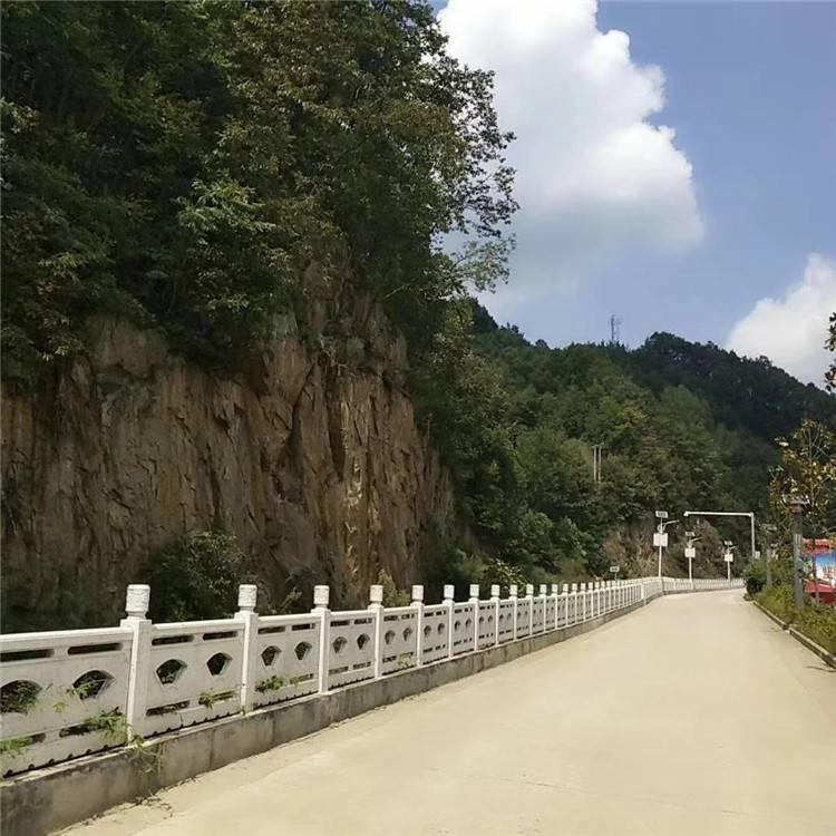 水泥仿石护栏 扇形款式仿大理石护栏 优质美观