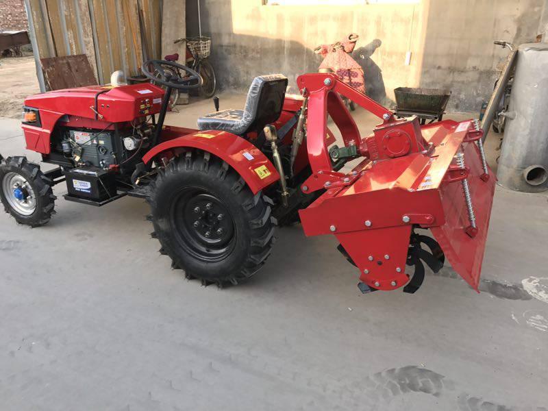 农用单缸四驱拖拉机开沟机 小四轮拖拉机旋耕机 多功能耕地机