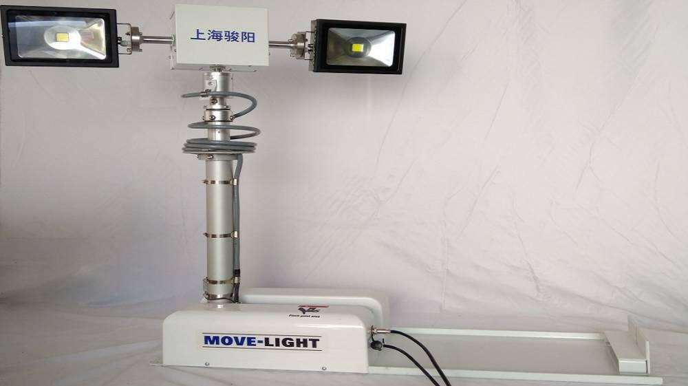 上海骏阳曲臂灯自动复位功能实拍 车载升降灯功能展示实拍