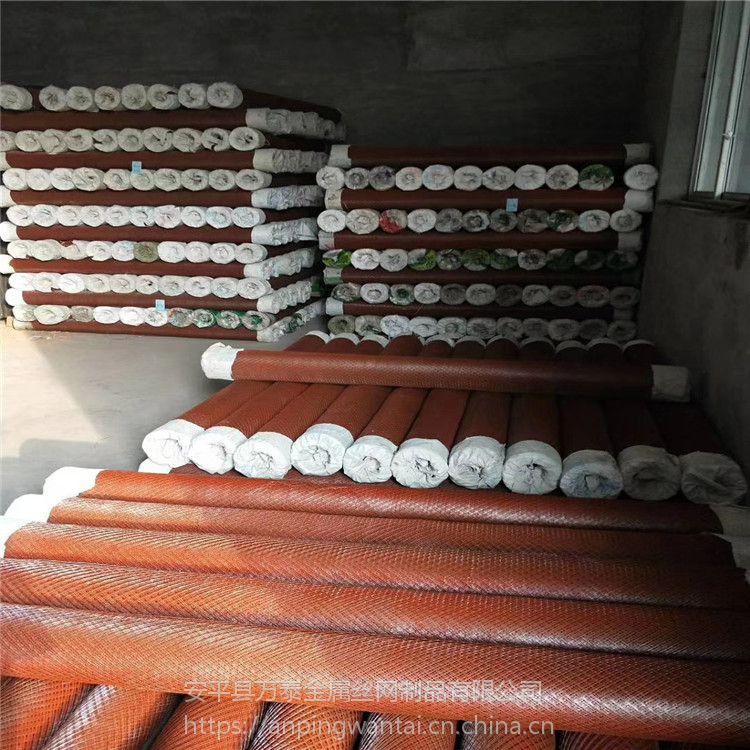 灌浆池用钢板网 镀锌小孔菱形网 建筑钢板网
