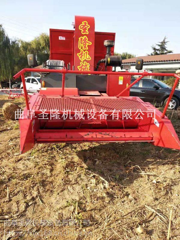 圣隆牌自走式青贮机 玉米秸秆粉碎收获机厂家