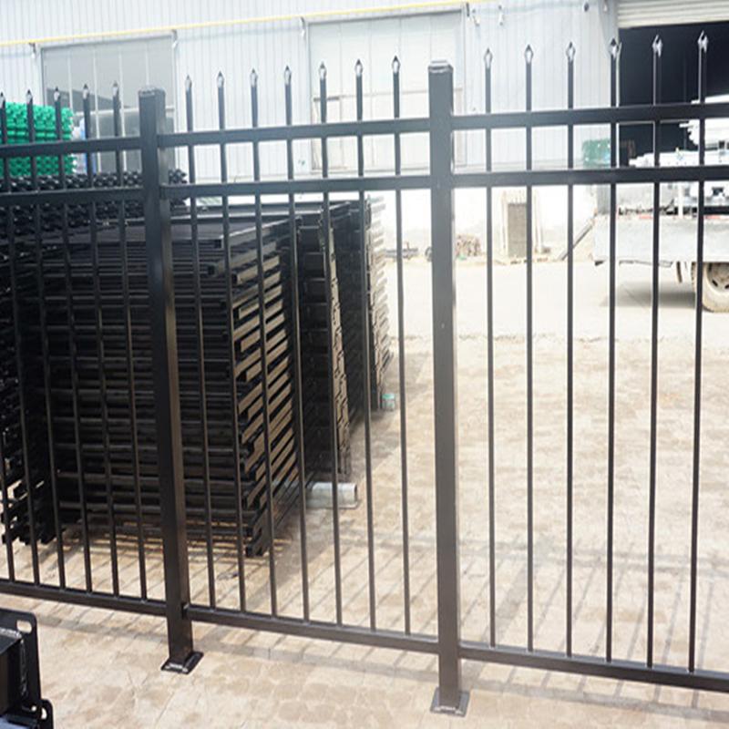 围墙铁栅栏厂家 久卓供应小区公园景区工厂厂区围墙栏杆围栏
