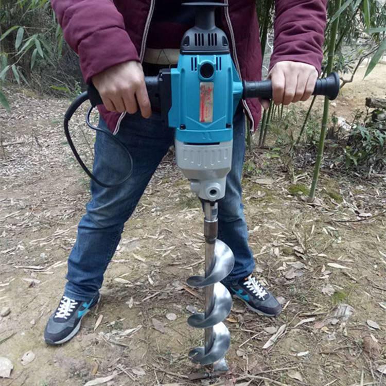 手提式电动挖坑机 锂电植树钻孔机 电动打孔机厂家