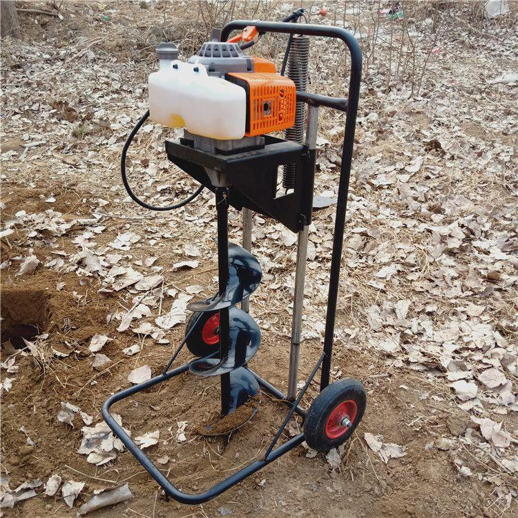 手推脚踩挖坑机小直径手提打眼机 拖拉机钻洞机