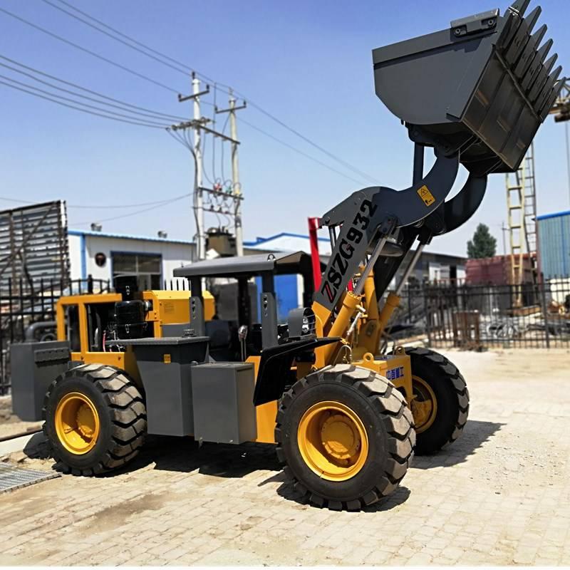 矿用,井下铲车给客户试车