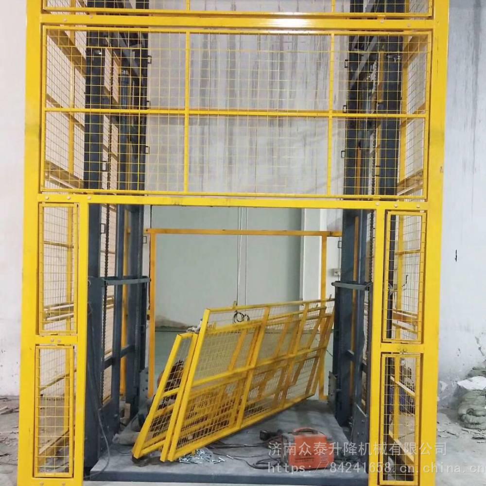 航天导轨式升降机厂家 三层三站升降货梯 链条式升降机 升降平稳操作简单