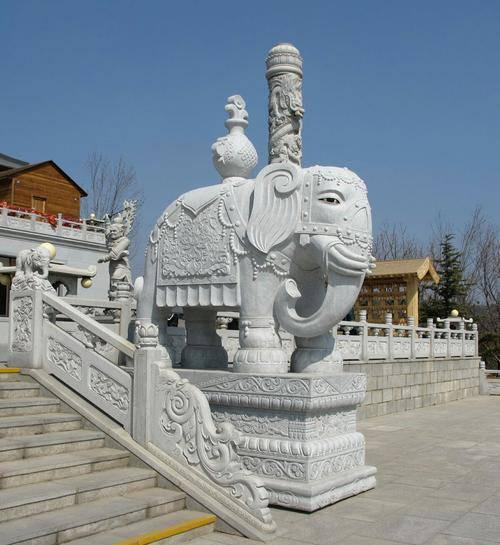 石雕花岗岩大象厂家 石雕大象镇宅 适合各种场所