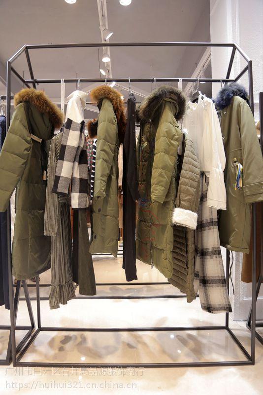 米祖18冬装品牌折扣女装连衣裙批发市场尾货银色风衣