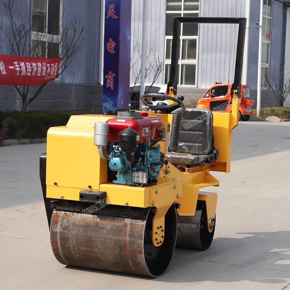 恒旺850型座驾式双钢轮柴油压路机 双钢轮振动压路机厂家直销