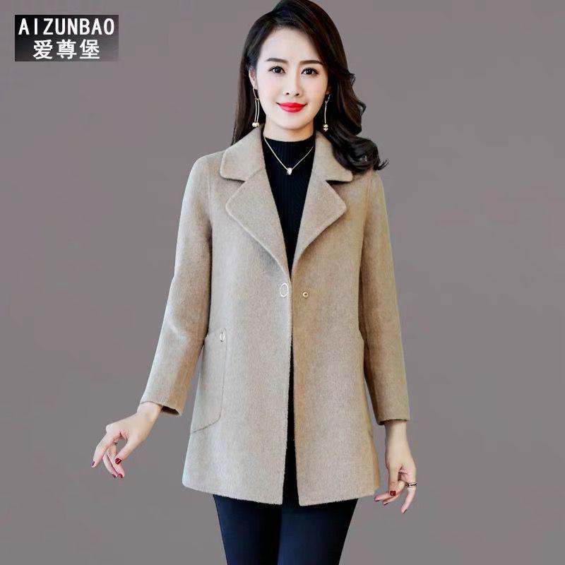 郑州服装批发市场外套女中长款2019秋冬新款羊绒呢子显瘦韩版