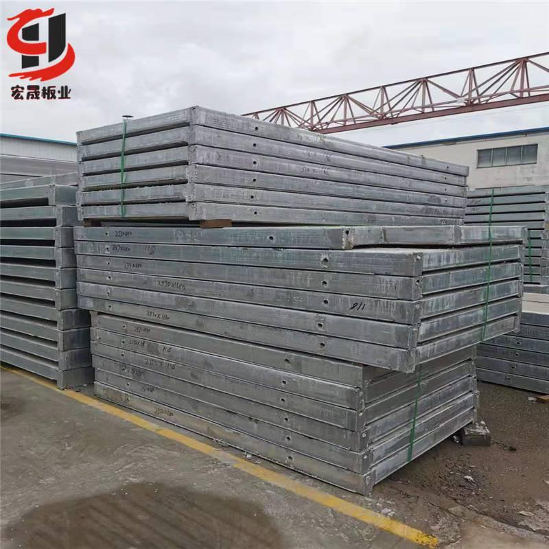 济南钢骨架轻型楼板安装施工现场 60毫米膨石楼板定制厂家