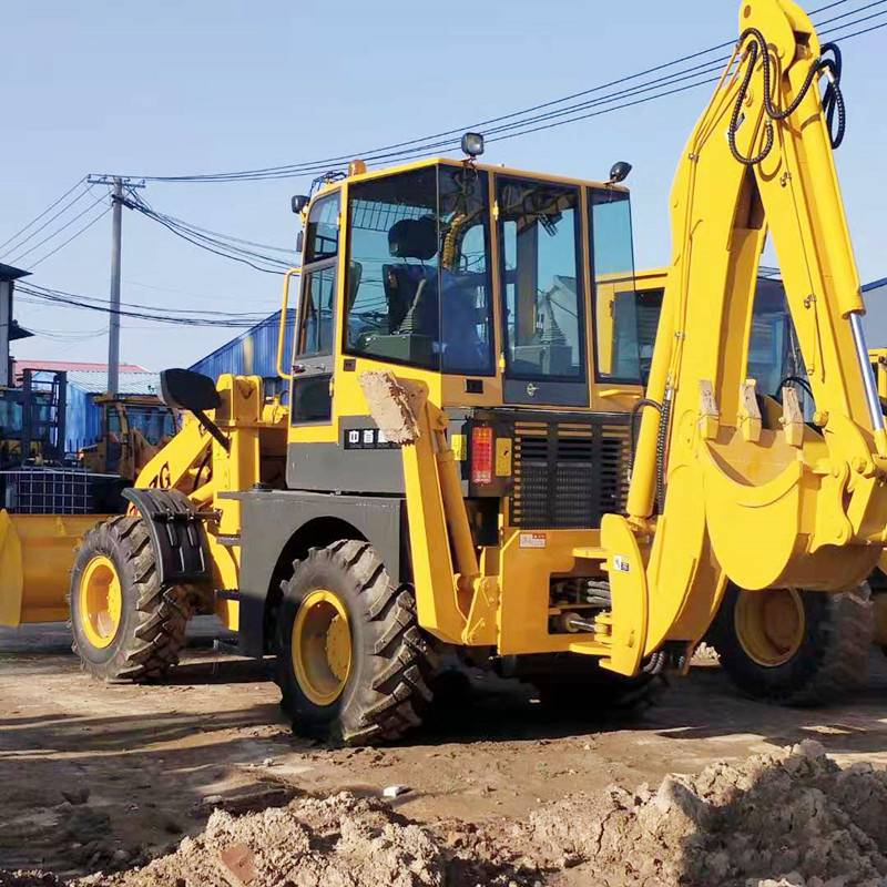 甘肃两头忙挖掘机深度4米 轮式挖掘机四联阀操作