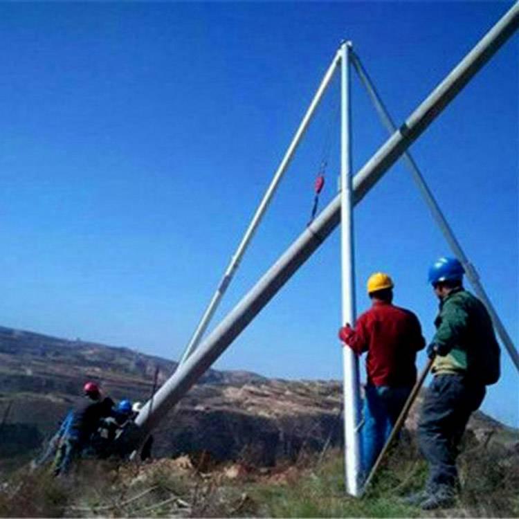 8米/10米/12米/15米铝合金三角拔杆 宜宾市水泥杆人字