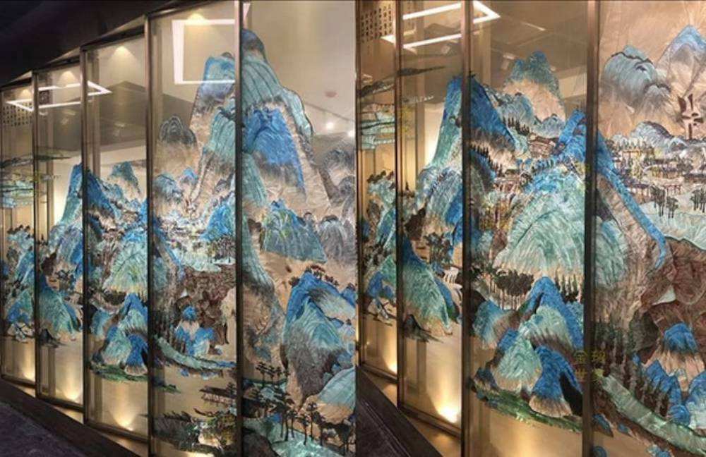 國風派不鏽鋼畫框鏡框定制加工_中國風304不鏽鋼方圓畫框鏡框來圖定制