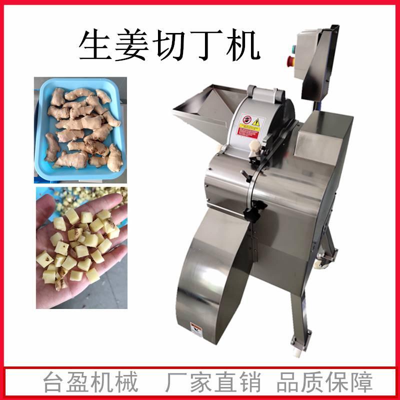 商用生姜切丁机 切姜丁机 不锈钢材质切姜丝机 台盈机器货到付款