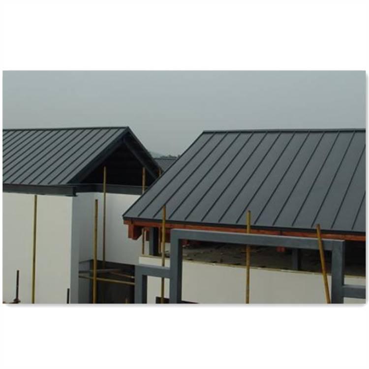 特色小镇别墅25矮立边双咬合屋面墙面系统铝镁锰板