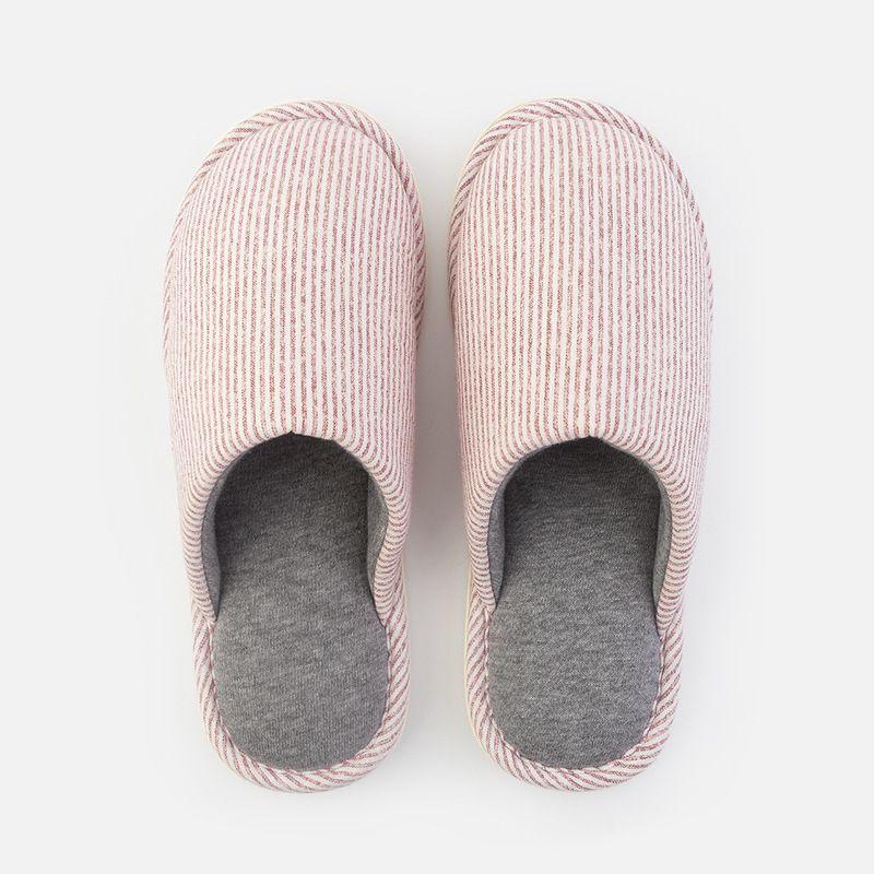 家居简约保暖棉拖鞋女冬季室内居家地板保暖防滑情侣拖鞋男 EVA鞋底