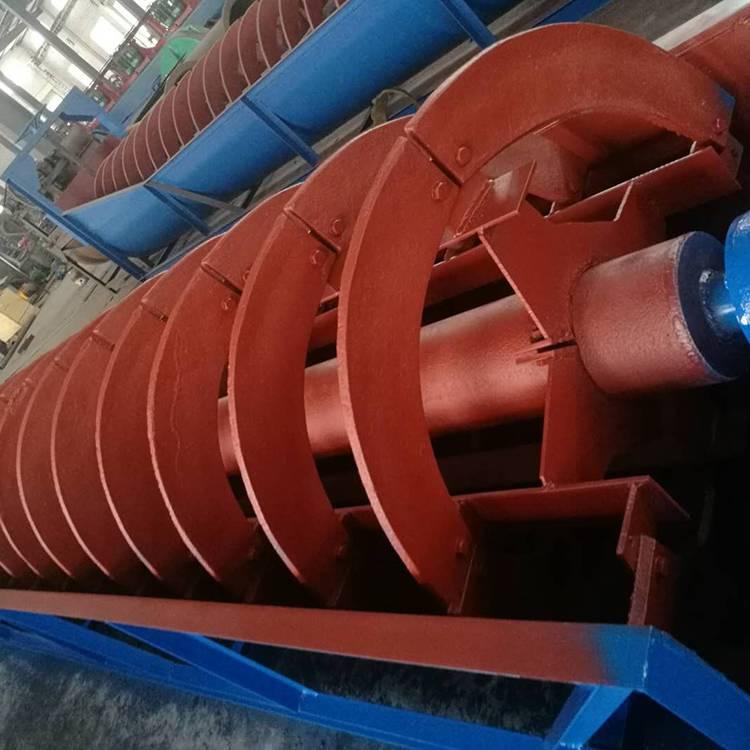 江西螺旋式洗沙机设备 大型水洗全自动洗砂机 小型螺旋分级机