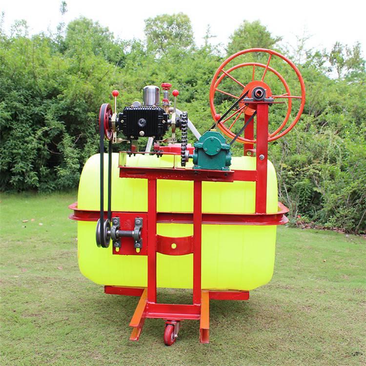 四轮拖拉机悬挂式轴传动打药机 自动卷管麦地打药机
