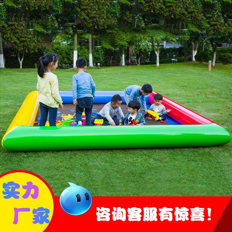 新款加厚儿童充气沙池 充气游乐决明子户外玩具广场沙滩池可定制 上海安徽充气沙池设备哪里有卖