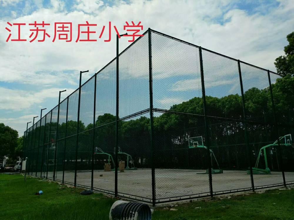四川球場圍網生産廠家球場勾花鐵絲網安裝團隊社區籃球場隔離防護網