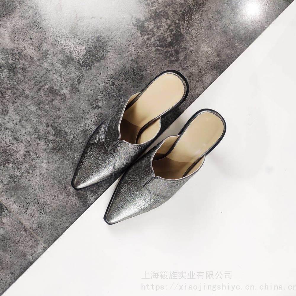 时尚拖鞋 穆勒鞋 真皮穆勒 走秀拖鞋 女士拖鞋 高端穆勒 酒杯跟凉拖
