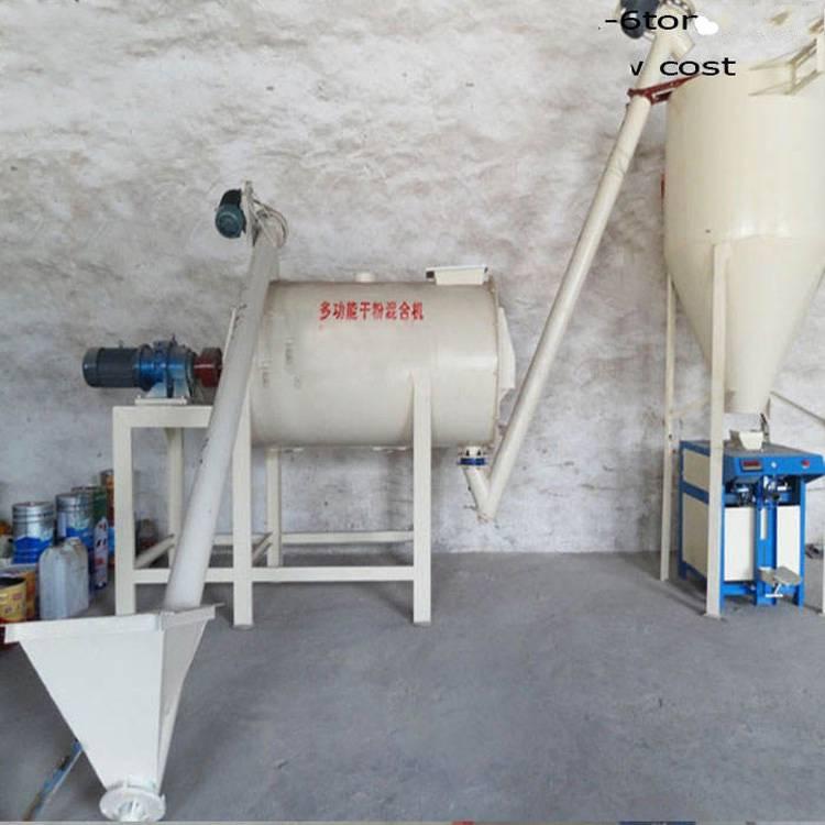 方解石粉料混合机 卧式搅拌机混料设备 昆明中磨机械