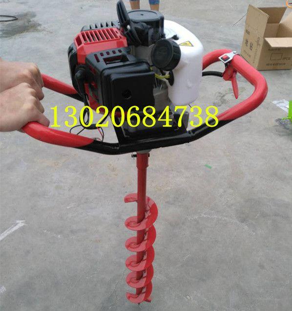 汽油挖坑机价格单人操作打坑机视频