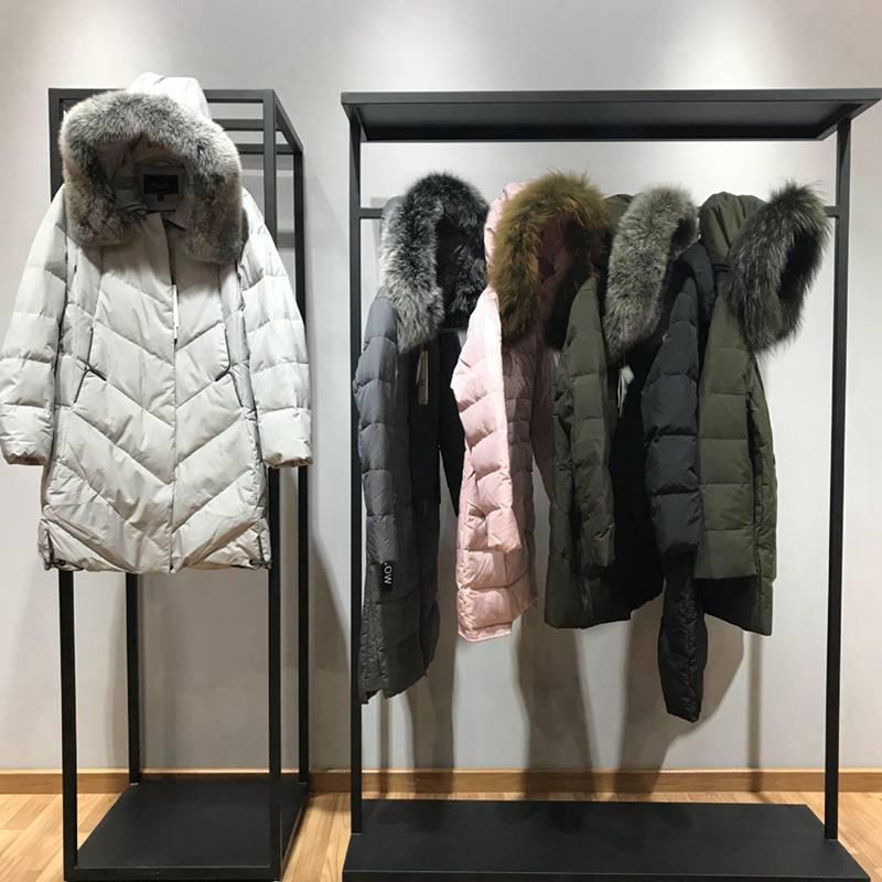 诗韵冬装 女装冬季短款羽绒服 品牌女装进价折扣 青岛外贸批发