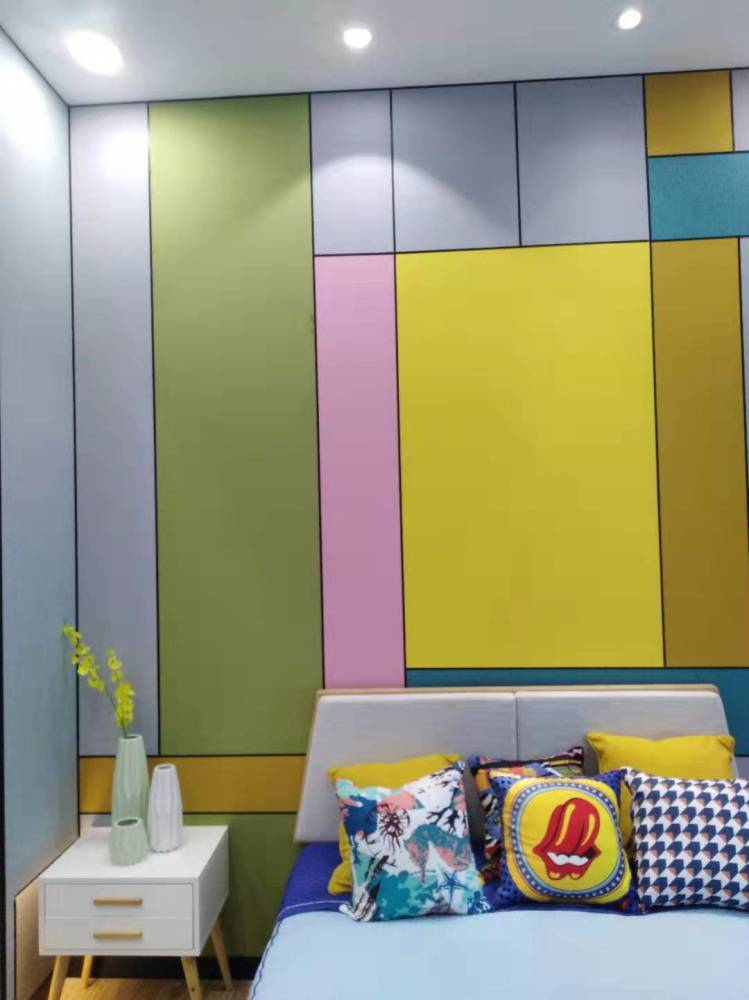 新展廳新風彩竹木纖維藝術集成墻板
