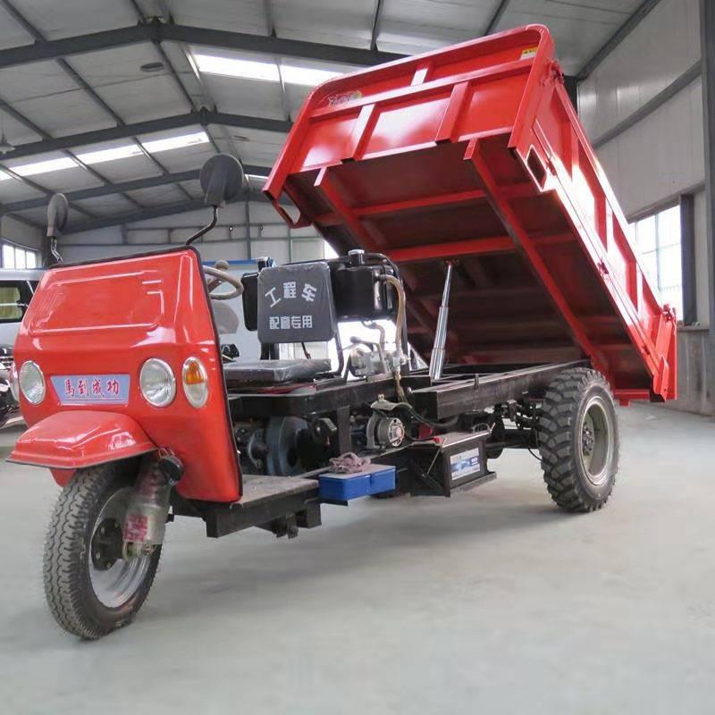 建筑工地专用柴油三轮车 多功能22马力全封闭柴油三轮运输车