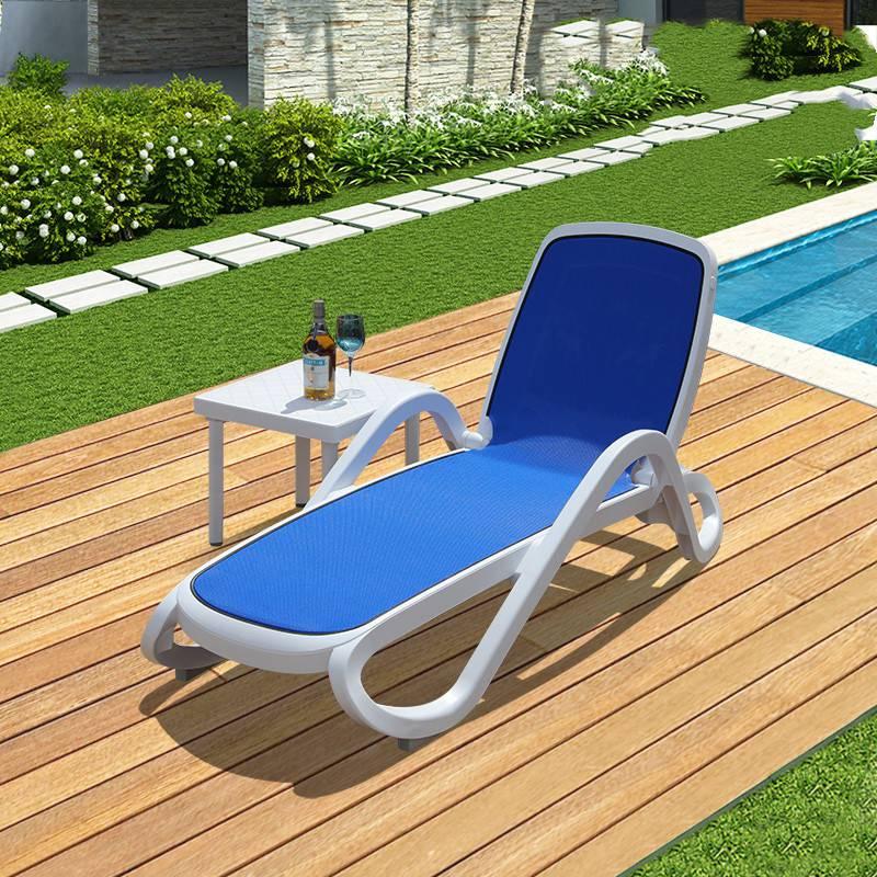 2019新款户外泳场沙滩躺椅进口ABS塑料沙滩躺椅厂家直销