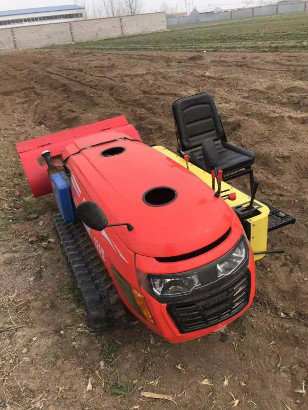 遥控式履带开沟施肥机 果园旋耕锄草机 自走式回填机