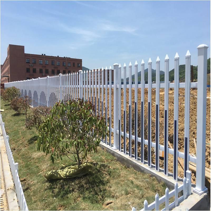 供应公园厂区学校变压器塑钢围墙护栏 pvc内衬方钢 久卓定制