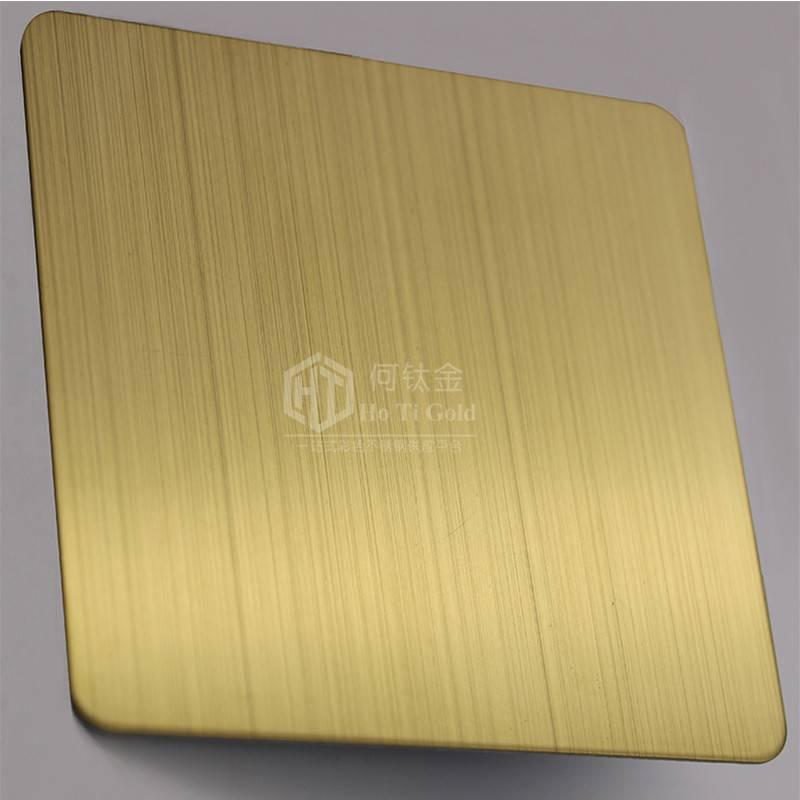 厂家直销彩色不锈钢拉丝板 防指纹电镀钛金不锈钢拉丝板加工 酒店不锈钢装饰板