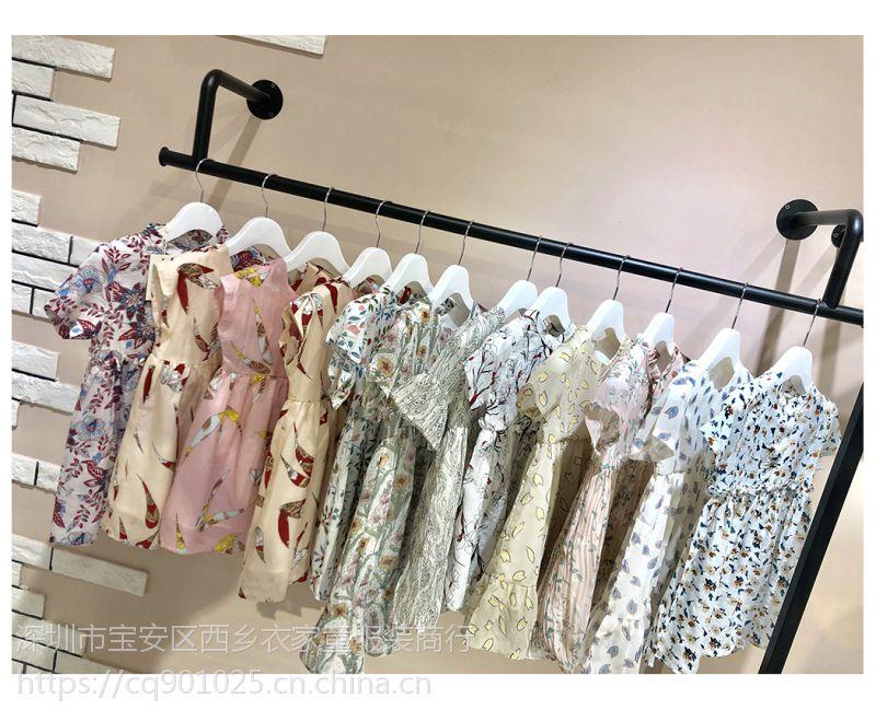 19年丽昀连衣裙 碎花女童连衣裙 童装品牌折扣尾货分份货源 厂家直销 韩版