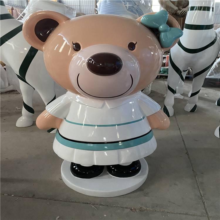 玻璃钢吉祥物雕塑 定制香港学校形象雕塑 卡通造型雕塑