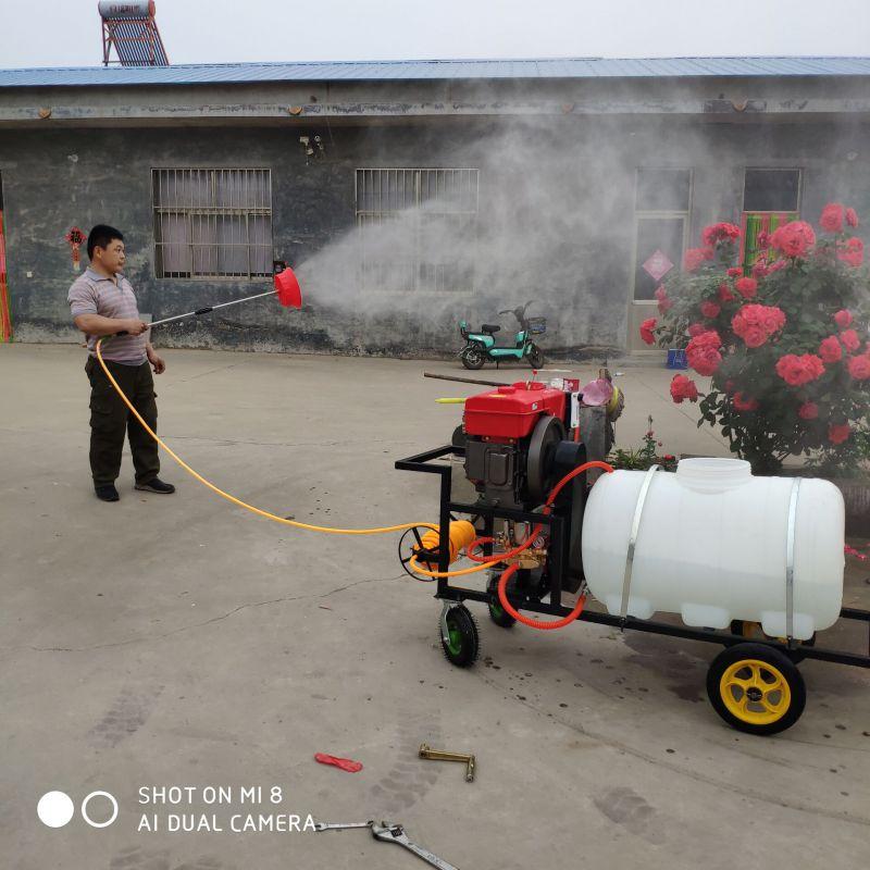 厂家加工定制8马力柴油高压打药机/远射程果树杀虫喷雾器