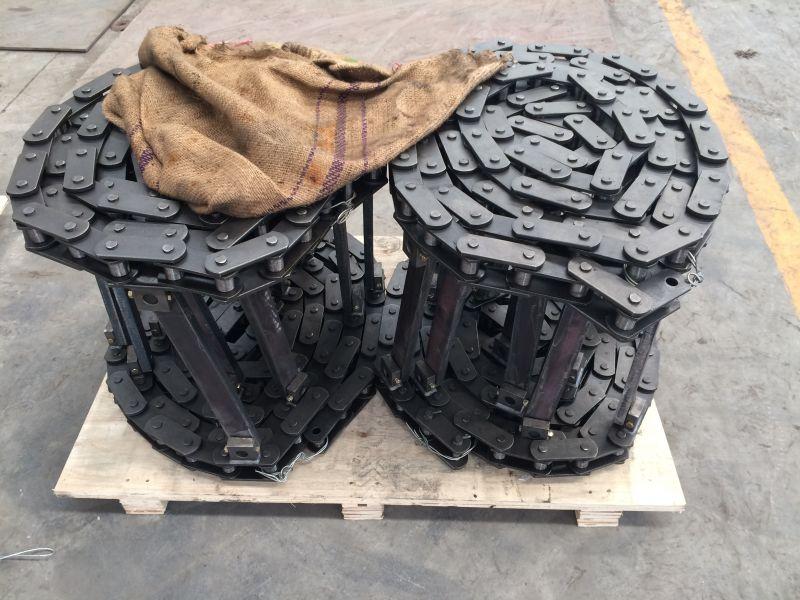 攤鋪機24B28B刮板輸料鏈條雙菱鏈條供應廠家