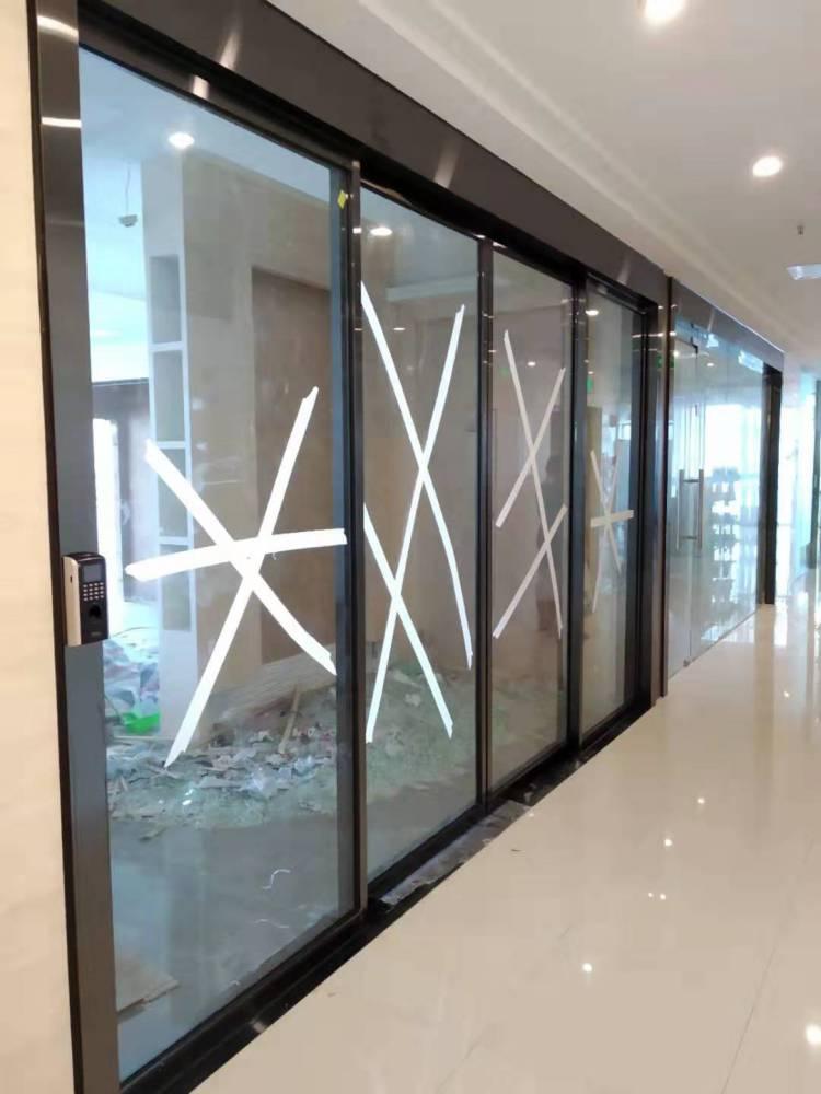 重慶市自動門安裝玻璃平移感應門整套安裝視頻