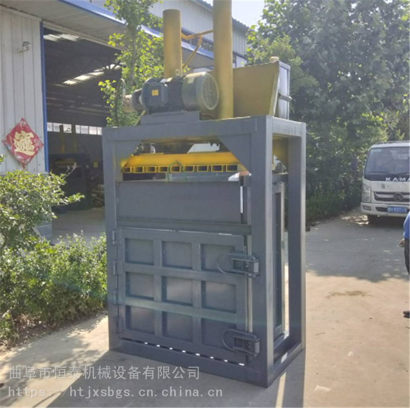 180型廢紙打包 恒泰碎布料垃圾地膜打包機 廢品壓塊機打包機
