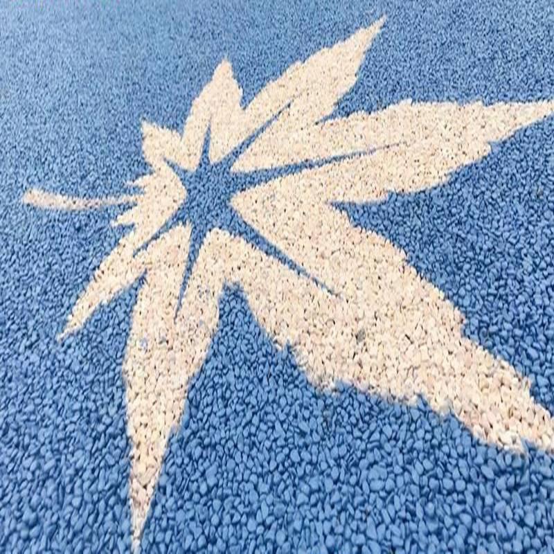 透水胶粘石路面 景辉绿道透水胶粘石路面胶粘剂