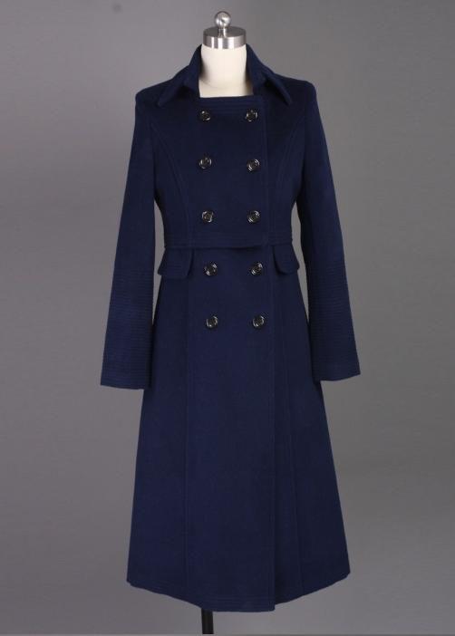 颗粒绒新款定制  女士羊绒大衣定制