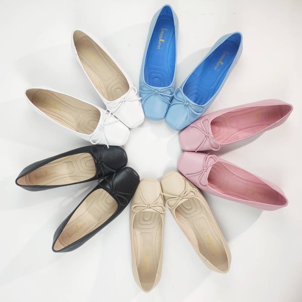 LinneyKaren全真皮一体工艺超软平底鞋,面皮牛皮里皮猪皮,PVC超软大底